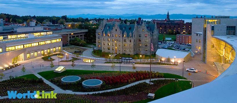 Đại học Vermont nhìn từ trên cao